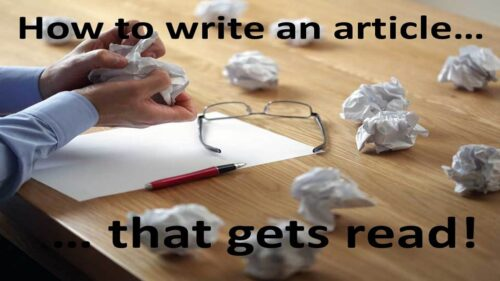 How To Write An Article (That Gets Read!) thumbnail